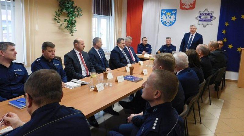 Odprawa roczna w Komendzie Powiatowej Policji w Przeworsku